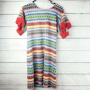 Uncle Frank Chevron Print Dress XS EUC